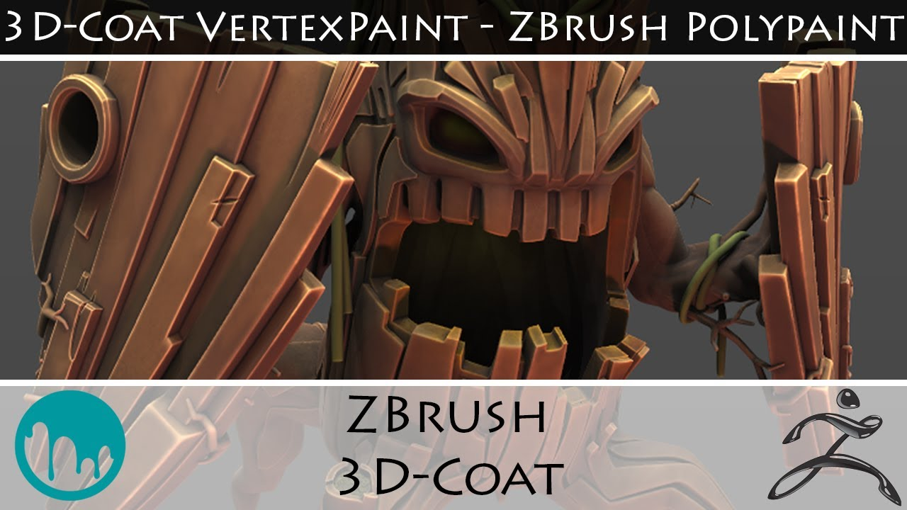 High Poly : from ZBRUSH's Polypaint to 3D-COAT's Vertex Paint