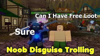 Noob Disguise Trolling! Fun Social Experiment - Dungeon Quest Roblox