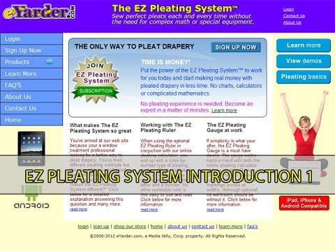 Introduction to The EZ Pleating System