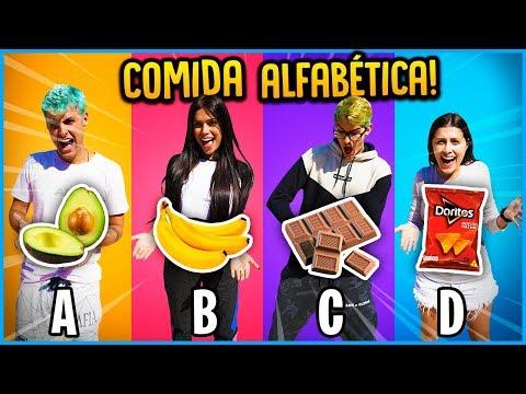 ÚLTIMO A COMER COMIDAS EM ORDEM ALFABÉTICA GANHA 5000 R$!! [ REZENDE EVIL ]