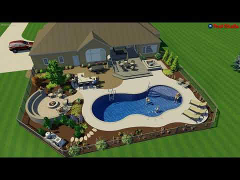 Sussex, WI -Linear Free Form Pool Concept Video R2