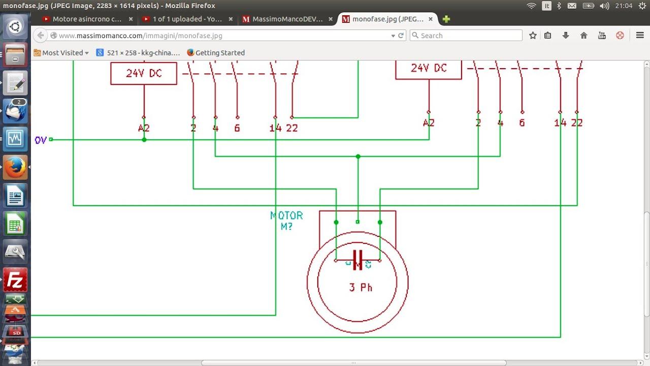 Schema Elettrico Lampadario Doppia Accensione : Schema elettrico motore monofase con spazzole fare girare