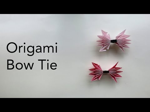 Tutorial for an Origami  Bow Tie (ASMR Paper Folding)