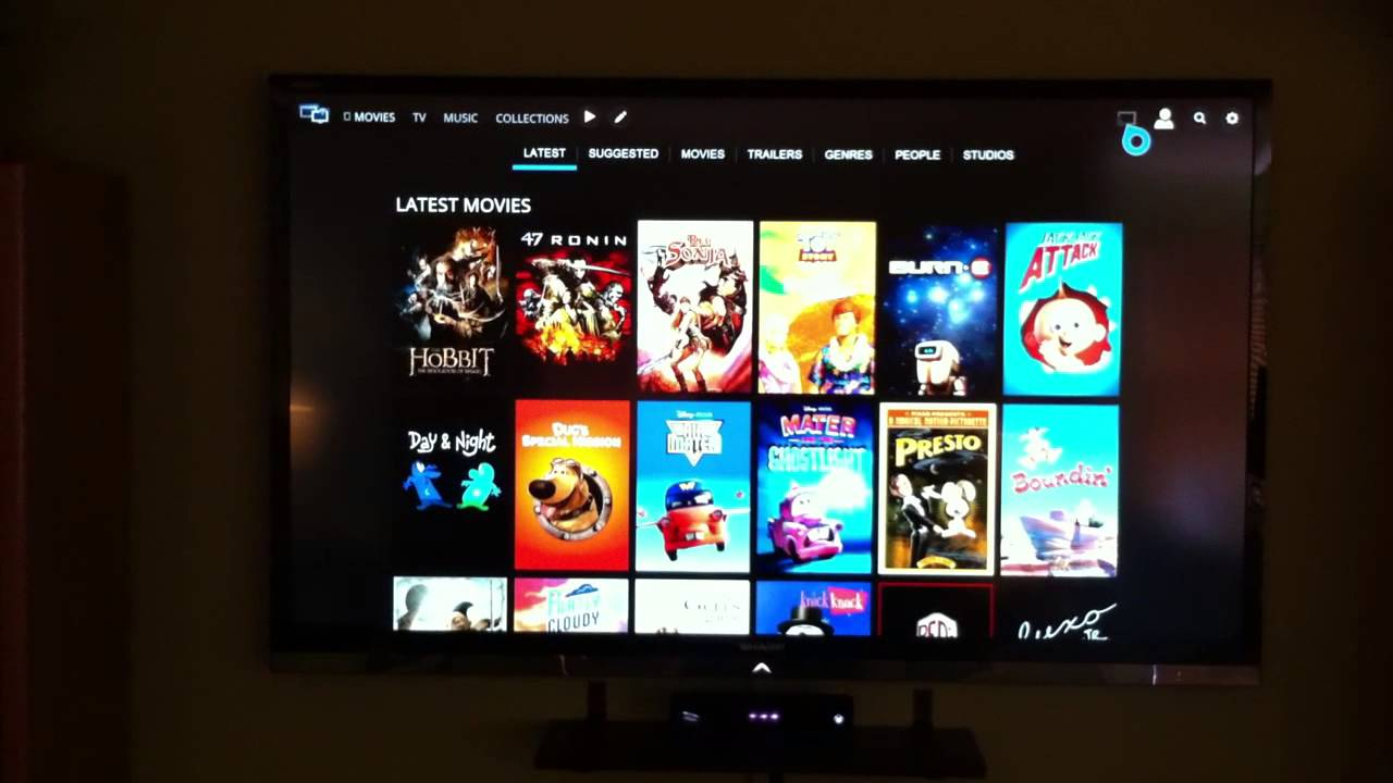 Playing movie to Xbox One using Media Browser 3 - YouTube
