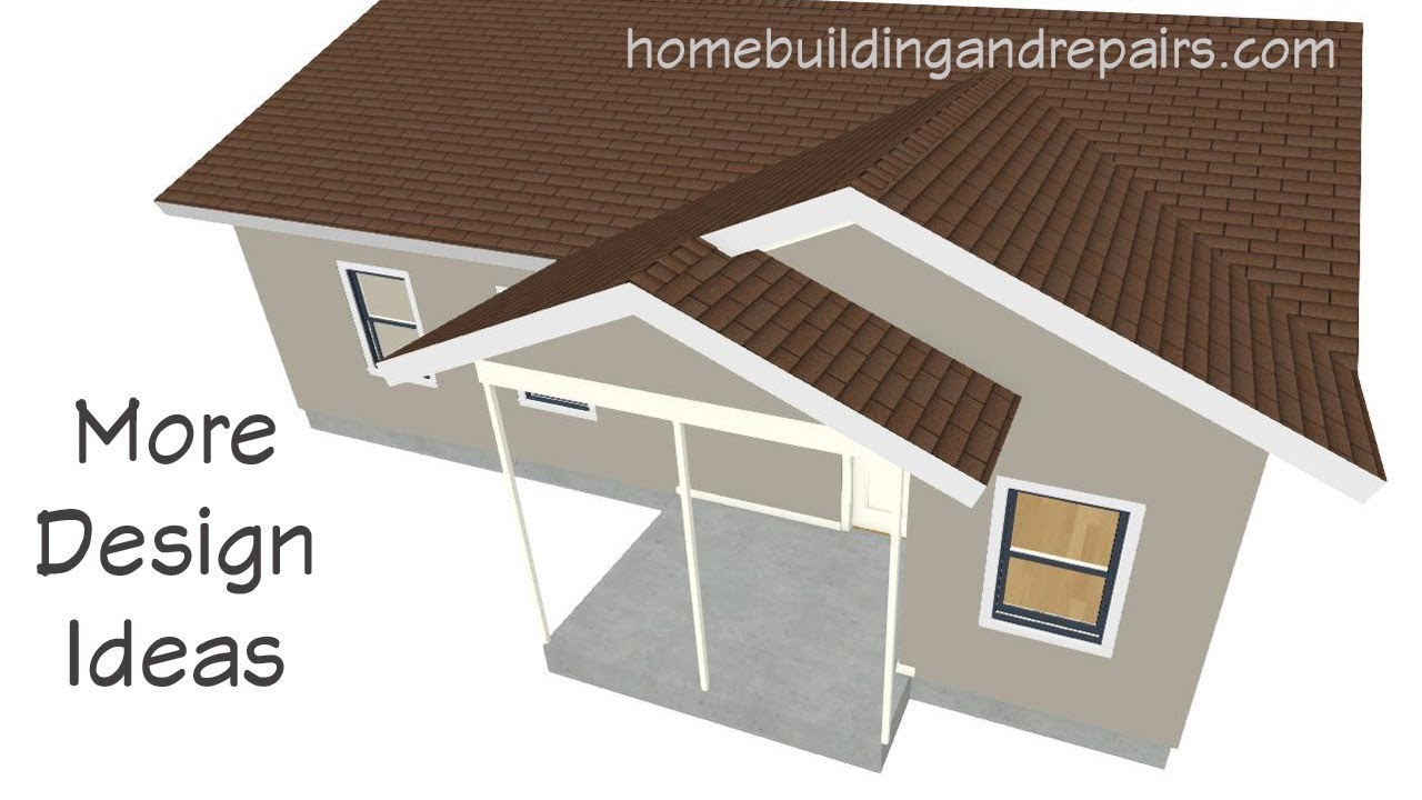 Roof Design Ideas For Porch Next To Room With Gable Roof Architecture Youtube