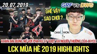 [LCK 2019] GRF vs DWG Game 2 Highlights | Pha xử lý vượt xa người thường khiến BLV phải hét lên