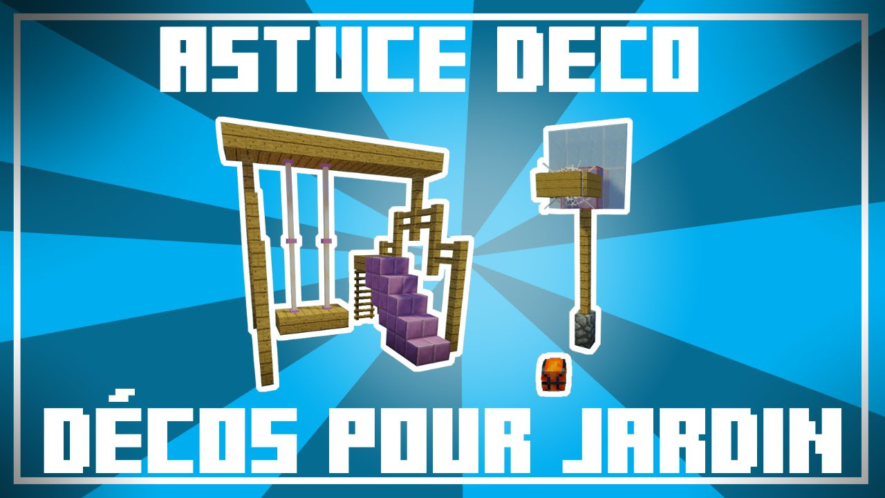 astuce d co 9 id es de d co pour jardin dans minecraft youtube. Black Bedroom Furniture Sets. Home Design Ideas