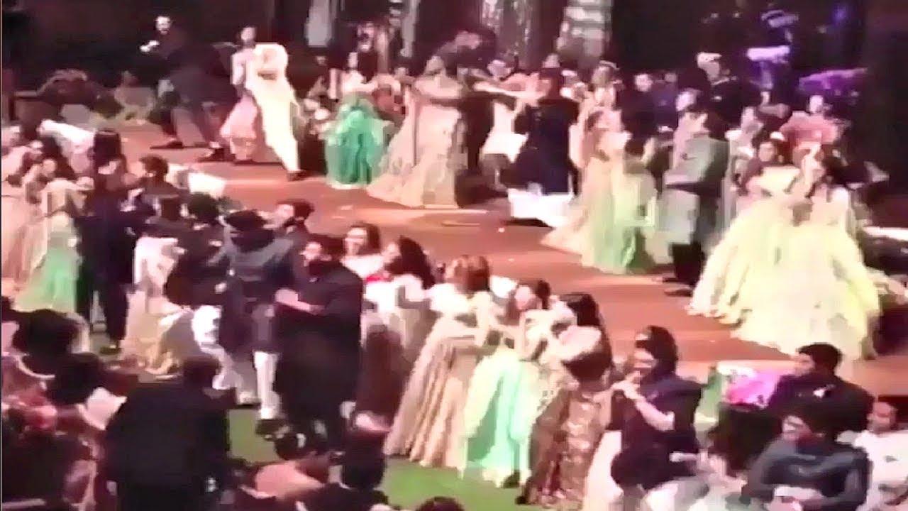 Bollywood All Stars Dancing At  Akash Ambani And Shloka Mehta Engagement Party