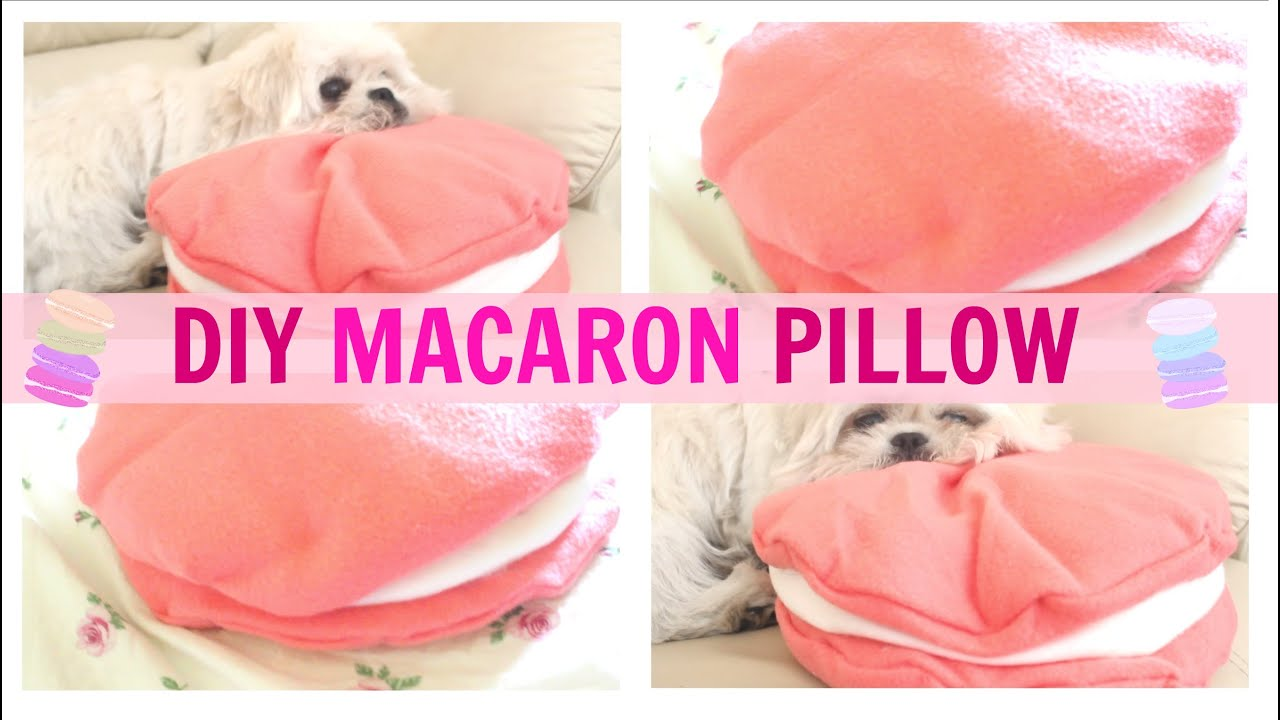 Cute Pillow Ideas To Sew : DIY Room Decor Cute Macaron Pillow (NO SEW) heartcindy - YouTube