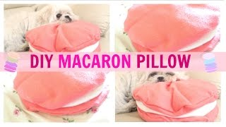 DIY Room Decor ♥ Cute Macaron Pillow (NO SEW) • heartcindy Thumbnail