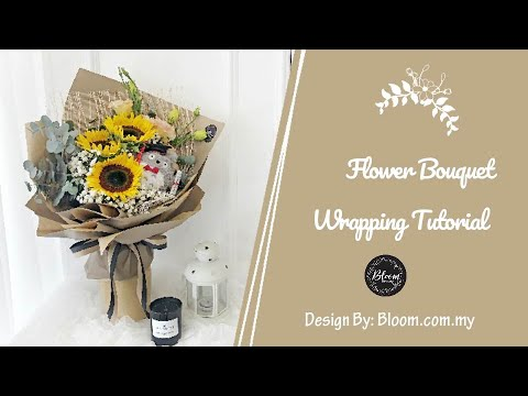 how-to-wrap-a-graduation-bouquet-||-flower-wrapping-technique-&-ideas-||-cara-buat-buket-bunga-convo