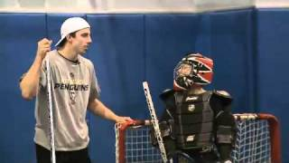 Marc-Andre Fleury Plays Ball Hockey With Kids