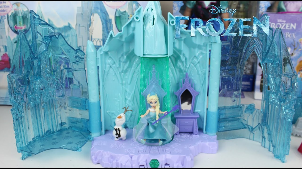 Palacio magico de elsa con luces video de frozen en for Casas de juguete para jardin