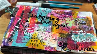 Mood Board Monday #13 - learning to live again art journal spread