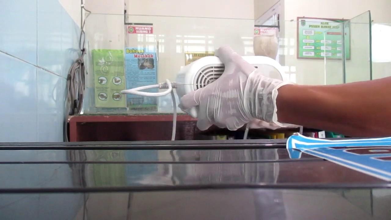 Cara Memasang Nebulizer Uap Medis - YouTube
