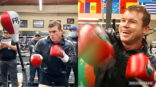 CANELO SUPER HAPPY SHOWS HOW TO HIT THE FIERCE REFLEX BAG WITH ACCURACY, POWER, & COMBOS