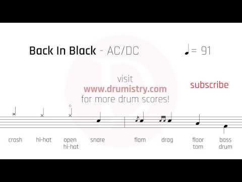 ACDC  Back In Black Drum Score