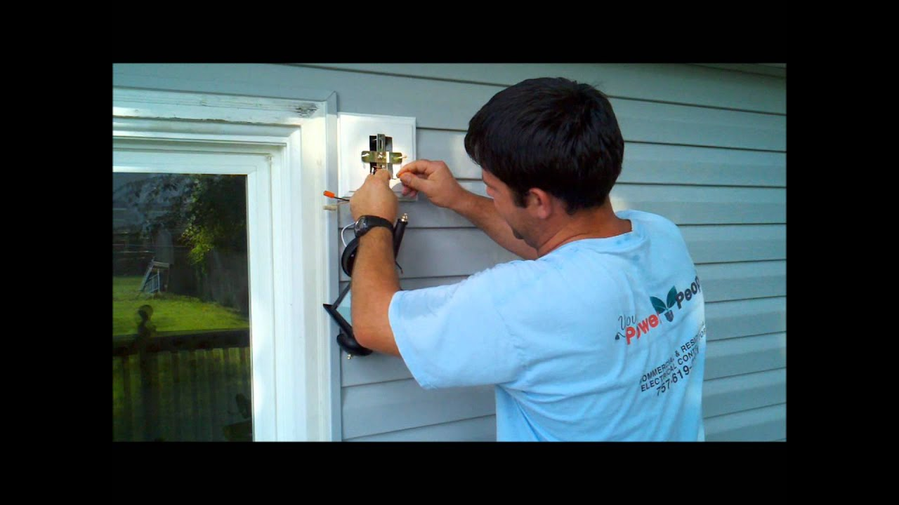 Installing Exterior Home Depot Or Lowes Light Fixture Wmv