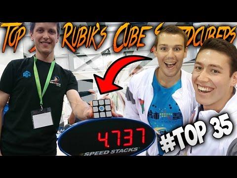 Top 35 Rubik's Cube Speedcubers 2017