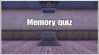 Trying a memory quiz in fortnite creative!