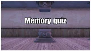 Essayer un quiz mémoire dans fortnite créatif!