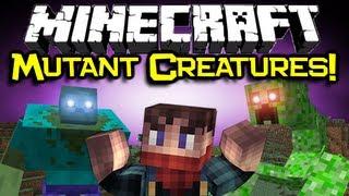 Minecraft MUTANT CREATURES MOD Spotlight - Zomg... RUN! (Mutant Creepers & Mutant Zombies)