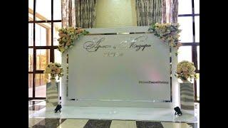 видео пресс волл свадебный
