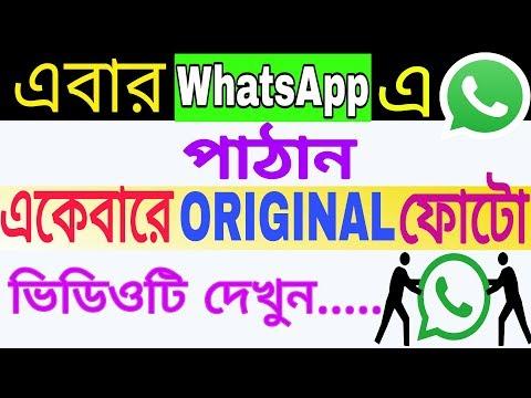 How To Send Original Quality Photo/Image On WhatsApp In Bangla