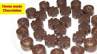 Homemade chocolate in Telugu-Valentines day speciales-easy  chocolate making-dry fruit chocolate rec