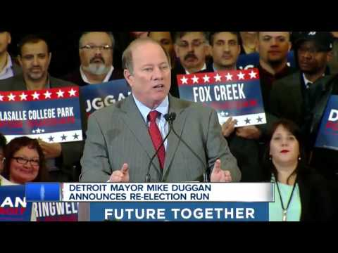 Detroit Mayor Mike Duggan announces re-election run