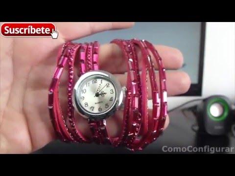 Colorful Crystal Wrap Women Bracelet Wrist Watch banggood