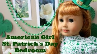 American Girl St.  Patrick's Day Room Tour