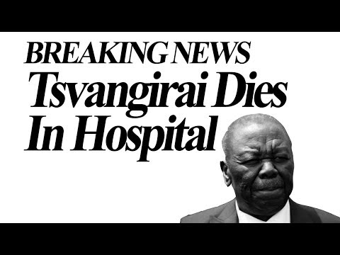Breaking News, Morgan Tsvangirai Dies in  South Africa Hospital