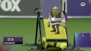 Shrek corre en competencia de perros Shrek Running