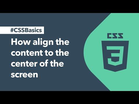 CSS Basics - Learn CSS Basics - Center Content