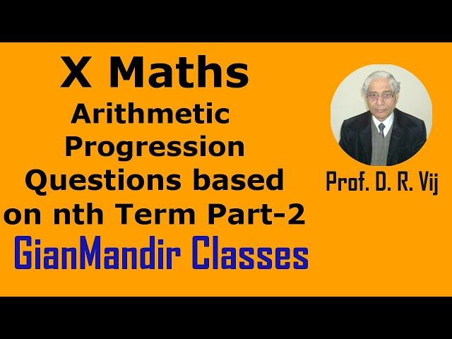 X Maths | Arithmetic Progression | Questions based on nth Term Part-2 by Preeti Ma'am