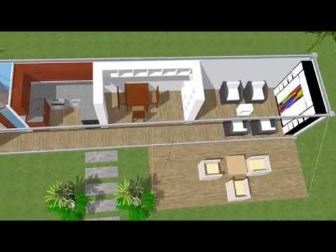 40ft Shipping Container design layout. A perfect tiny home design.