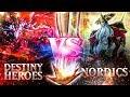 YuGiOh Its TIME to DUEL | Destiny Heroes vs Nordics | Legendary Hero Decks