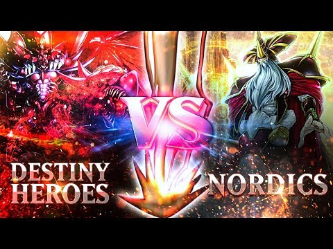 YuGiOh Its TIME To DUEL | Destiny Heroes Vs Nordics | Legendary Hero Decks