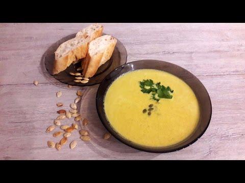 Суп тыквенный с семечками