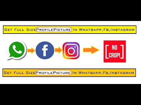 How To Set Full Size Photo In Profile Picture Whatsapp Facebook Instagram In Hindi Youtube