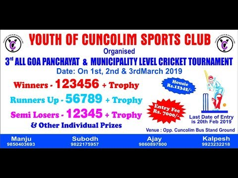 YOUTH OF CUNCOLIM SPORTS CLUB | DAY 1