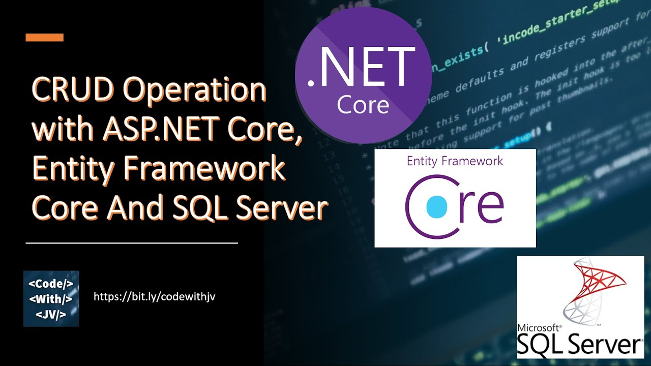 CRUD Operation with ASP.NET Core MVC, Entity Framework Core And SQL Server