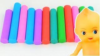 APPRENDRE LES COULEURS EN FRANCAIS POUR ENFANTS BEBES  SABLE MAGIQUE COLORÉ MOULES MICROONDE MAGIQUE