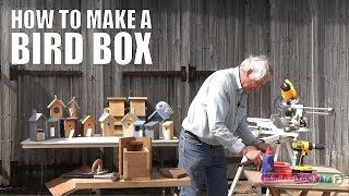 Here Jim Edwards expertly offers us a step by step guide to building a bird box. Jim makes and sells various animal and bird boxes