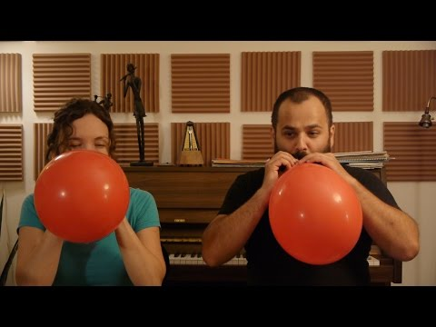 Mozart and Helium with Two Flutes