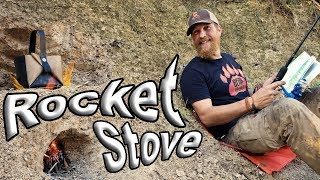 Primitive Technology Clay Rocket Stove / Day 23 Of 30 Day Survival Challenge  Texas