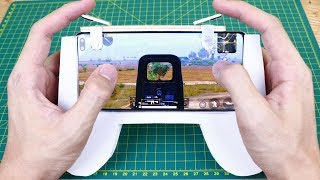 how to make Gamepad for PUBG Mobile / DIY Gamepad  and l1r1 for PUBG,ROS and Fortnite with cardboard