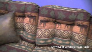 Beartooth Aspen Upholstered Log Sofa From Logfurnitureplace.com