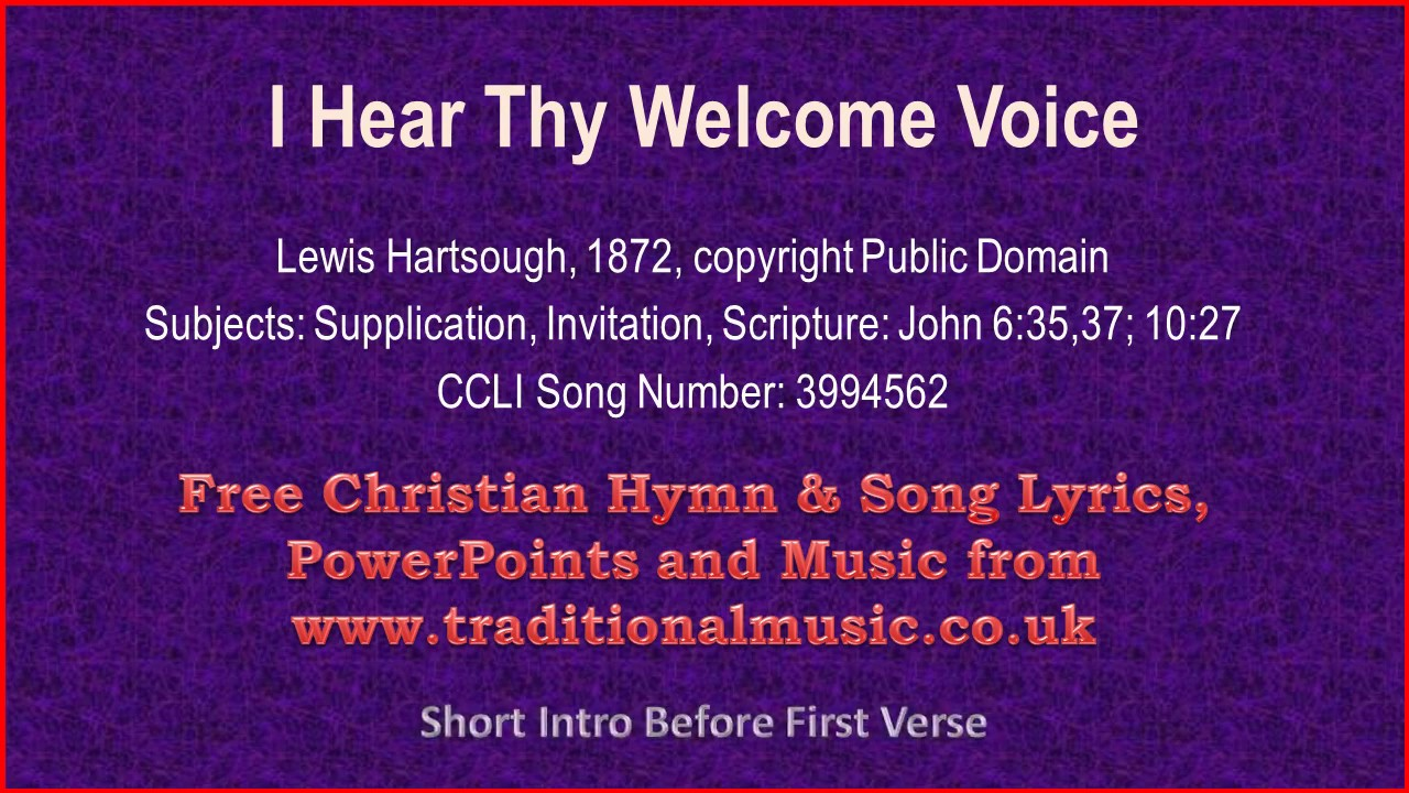 I hear thy welcome voicei am coming lord hymn lyrics music i hear thy welcome voicei am coming lord hymn lyrics music stopboris Images